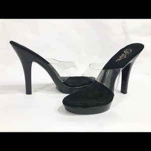 Pleaser Platform Stilettos Clear Sexy Exotic